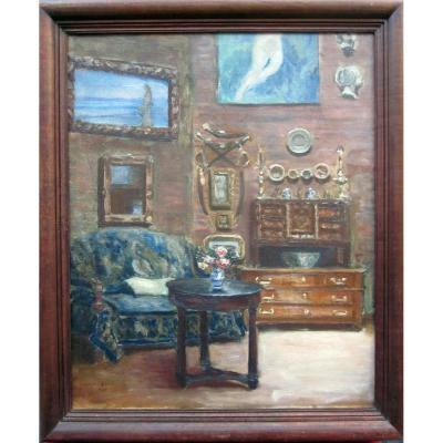 Jeanne Tissier Née En 1888  l'Intérieur De l'Atelier d'Alphonse Osbert