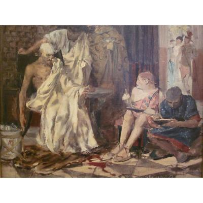 Georges Antoine Rochegrosse 1859-1938 The Death Of Seneca