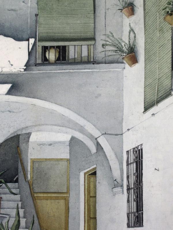Robert Banks 1911-2001 Un Patio à Cordoue Espagne Aquarelle-photo-3