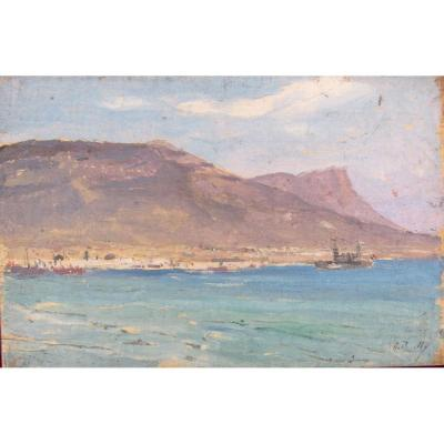 Alexandre Bailly 1866-1949 View Of Toulon
