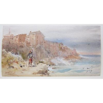 Emmanuel Costa Antibes Watercolor