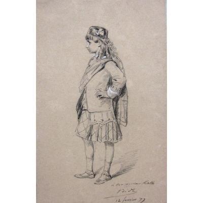 Alexandre Bida 1823-1895 Jeune Ecossais