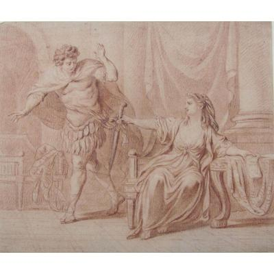 Nicolas René Jollain 1732-1804 Renaud Et Armide