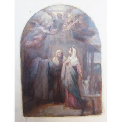 Melchior Doze 1827-1913 Esquisse Peinte