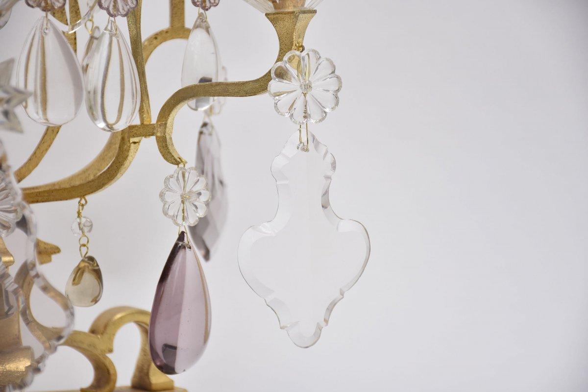 A  Pair Large Crystal Girandoles By Maison Baguès-photo-2