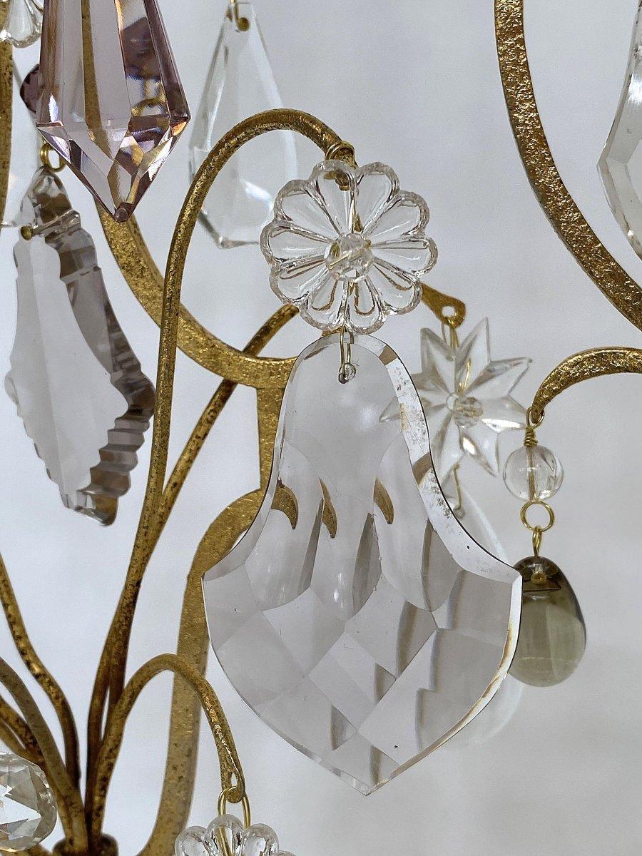 A  Pair Large Crystal Girandoles By Maison Baguès-photo-4