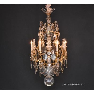 Grande Et Superbe Lustre Cage Epoque Louis XV