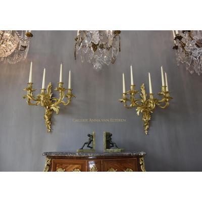 Superbe Paire d'Appliques De Style Louis XV
