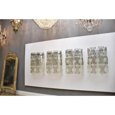 Stunning, Large And Rare Wall Lamps By Salviati Murano