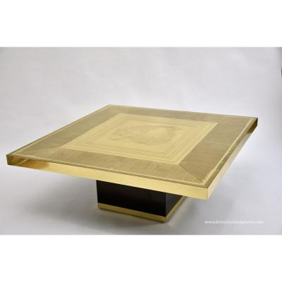 Beautiful Brass Etched Coffee Table By Lova Creations