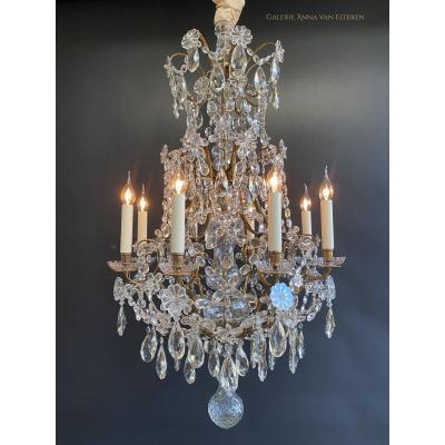19th C. Rococo Crystal Chandelier