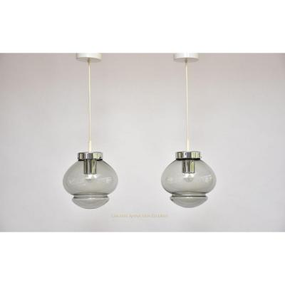 A Pair Of Raak Amsterdam Pendant Lights