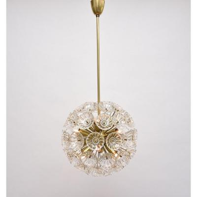 Mid-century Floral Chandelier By Carl Fagerlund