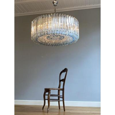 Large And Rare Mid-century Murano Chandelier By Venini