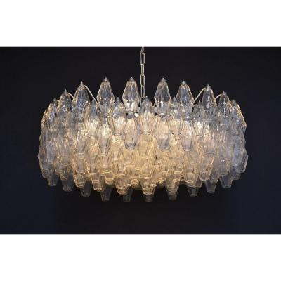 Large Mid-century Ceiling Fixture By Venini Murano