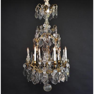 Large Gilt Bronze Cage Chandelier Louis XV Period