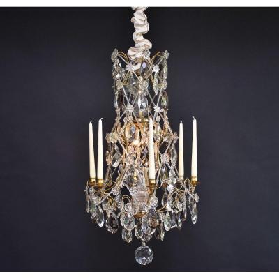 Lustre En Cristal De Style Rococo