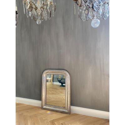 Miroir Ancien Louis -philippe, Feuille d'Argent, 19ème Siècle
