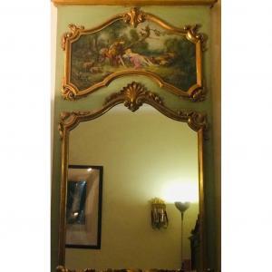 Trumeau Peint De Style Louis XV