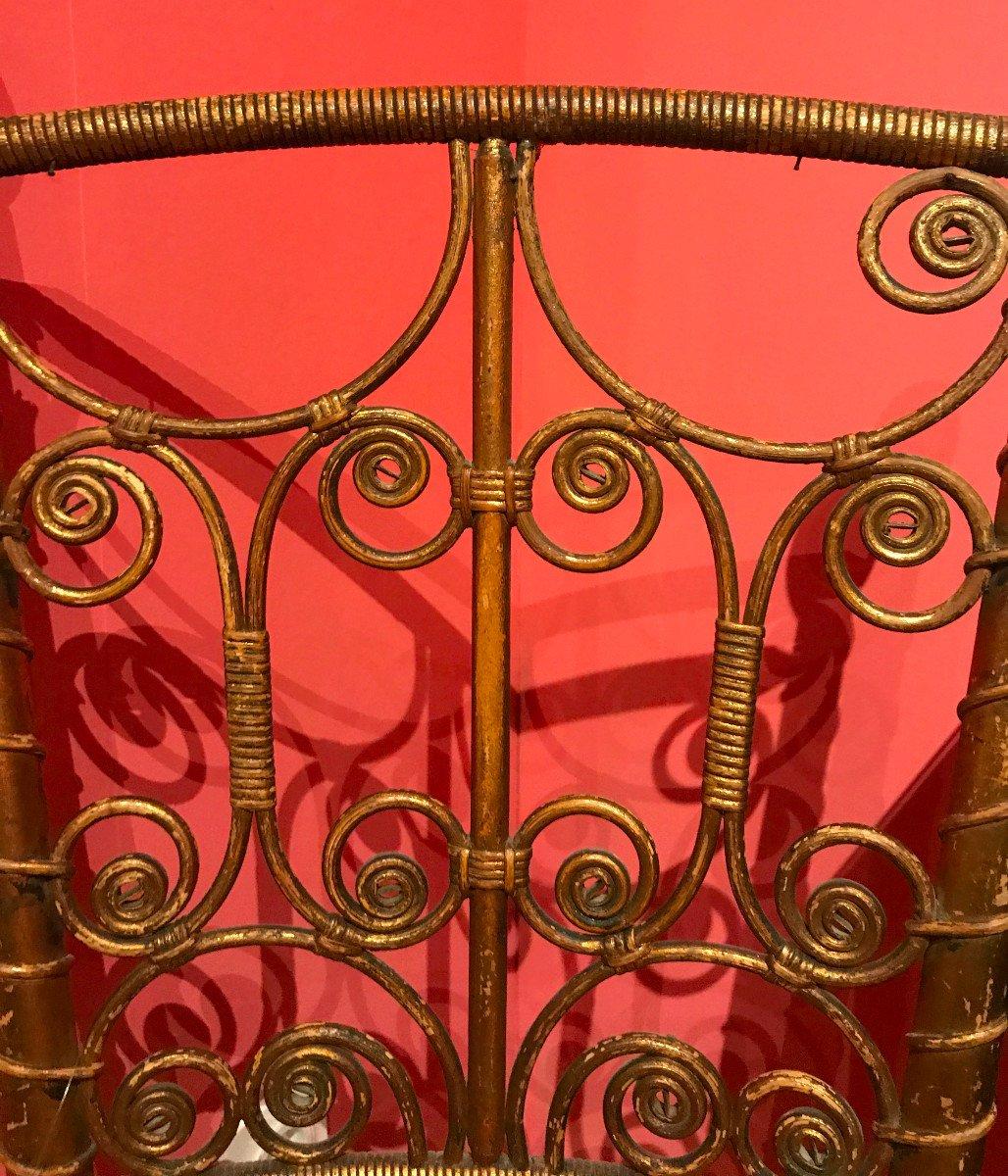 Chaise En Rotin Doré, Napoleon III