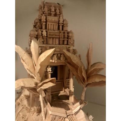 Objet De Curiosité, Temple Indien, Sous Globe