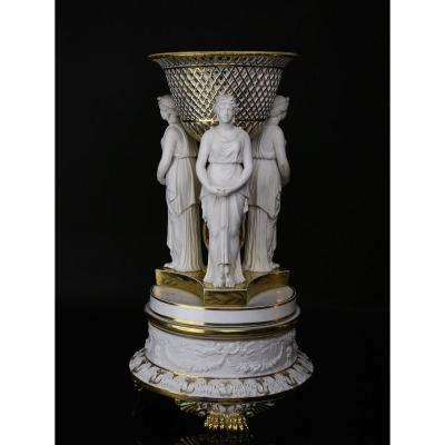 Porcelain From Paris, Dagoty, Important Especially From Empire Table