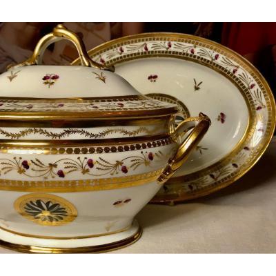 Porcelaine De Paris,  Grande Soupière Fin XVIIIe