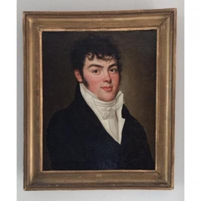 Portrait d'Homme 1er Empire, Début XIXème Siècle