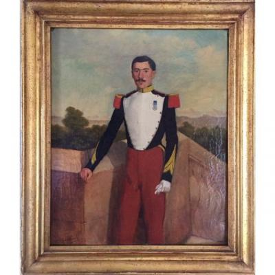 Portrait Of Corporal Officer 1st Voltigeur Of The Imperial Guard