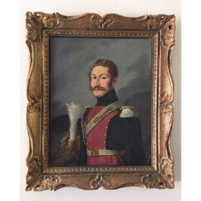 Portrait Of Officer Dragon Lieutenant In Second Of The Royal Guard Circa 1824
