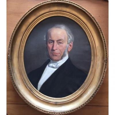 Portrait Of Mr Ernest Descamps, Notable, XIXth Time
