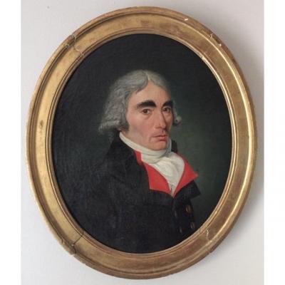 LOT 96 -Portrait d'Homme époque Directoire, XVIIIème Siècle, école française