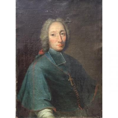 LOT 100 - Portrait d'évêque époque Louis XIV-Louis XV, école Française