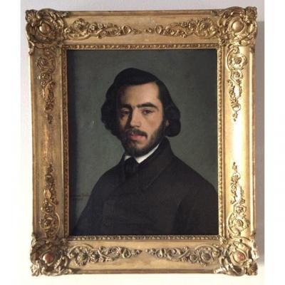 LOT 102 - Portrait De Notable Signé Léonce Biton Et Daté 1842, Huile Sur Toile