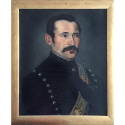 LOT 117 - Portrait d'Officier De Cavalerie Légère Vers 1848, école Française Du XIXème Siècle