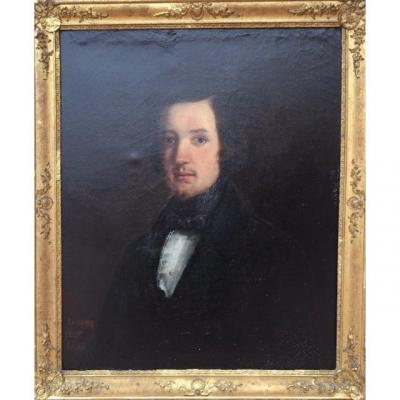 Portrait Of Notable Signed Issartier Joachim And Dated 1839