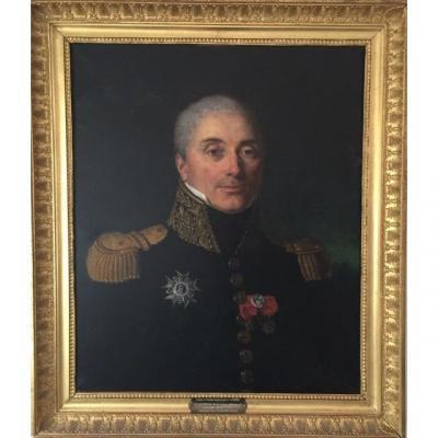 LOT 138 - Portrait Du Général Joseph Comte De Lagrange 1er Empire, Grand Officier De La Légion d'Honneur