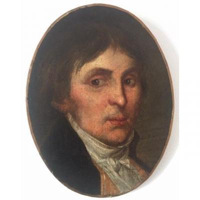 LOT 139 - Portrait d'Homme, époque Consulat/1er empire fin XVIIIème début XIXème, huile sur toile