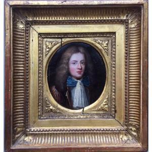 LOT 163 - Grande Miniature Sur Cuivre, Portrait De Gentilhomme Fin XVIIème Siècle