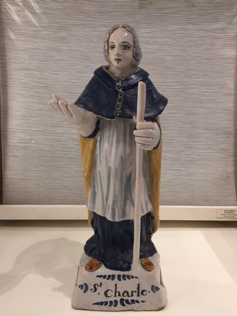 Nevers. Statue De Saint Charles 18°s.