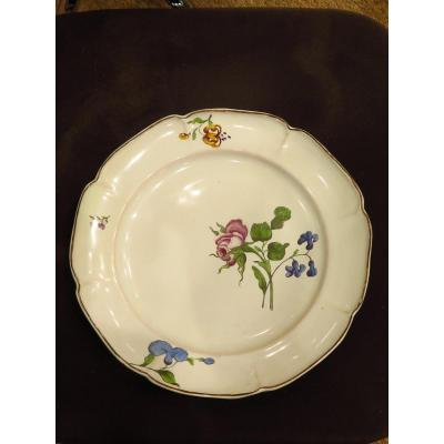 Strasbourg. Fine Quality Floral Decor Plate.