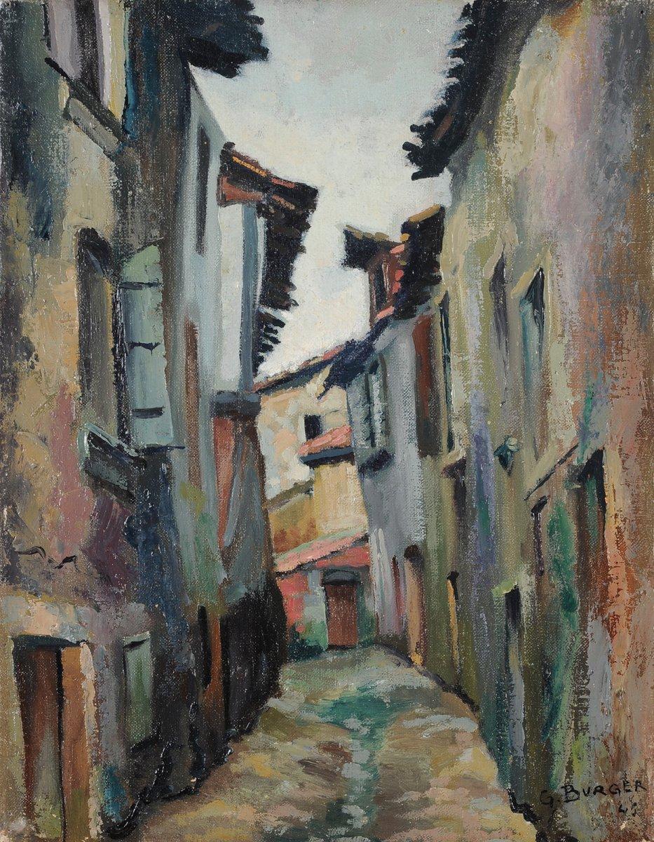 Georges Burger (1902-1983) Rue du Basilic à Périgueux Dordogne