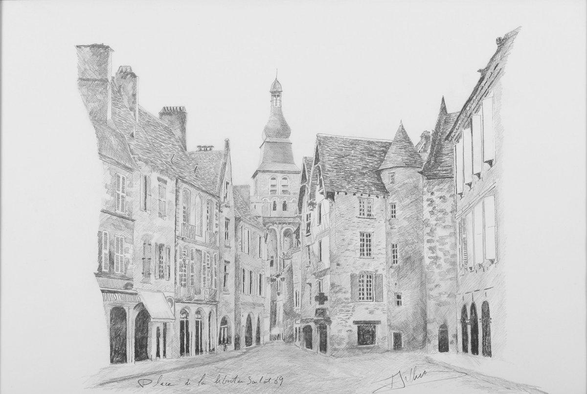 Arthus (20th) Sarlat : Place De La Liberté Dordogne Périgord