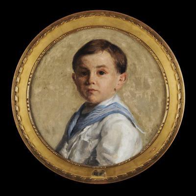 Léon-Pierre Félix (1869-1940) Portrait présumé du fils de l'artiste Périgueux