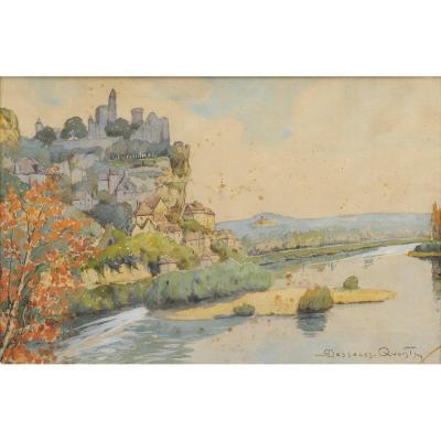 Robert Dessales-quentin (1885-1958) Beynac And The Dordogne Périgord