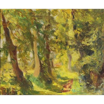 André Prugent (1882-1965) Le chemin creux Périgueux Dordogne Périgord