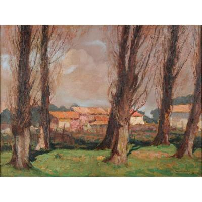 Emile Chaumont (1877 -1927) Spring In Branne In Gironde