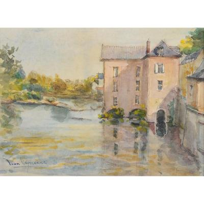 Jean Leysenne (1921-2009) The Mill On The Vézère Terrasson Dordogne Corrèze