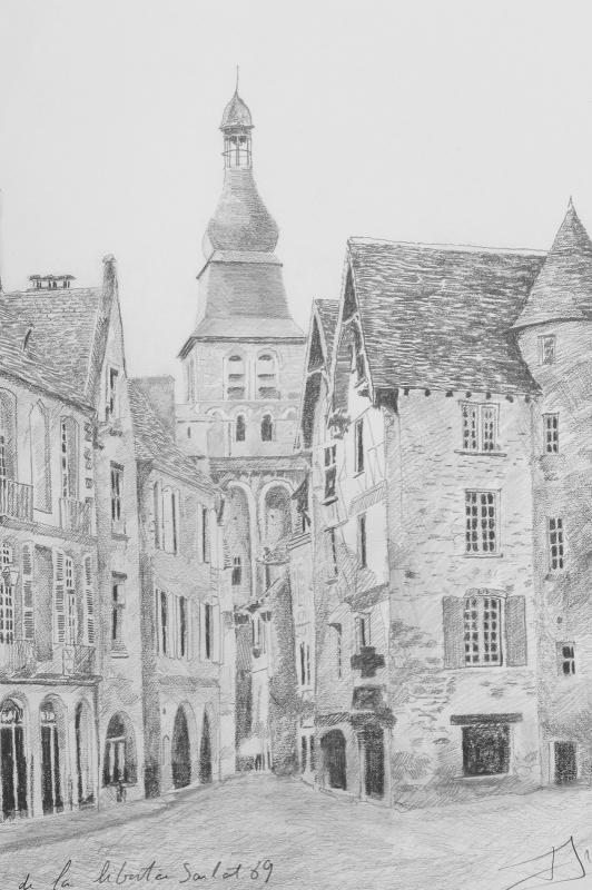 Arthus (20th) Sarlat : Place De La Liberté Dordogne Périgord-photo-2
