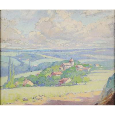 Jacques Bille (1880-1943) - Village Of Saint Romain Périgord Dordogne